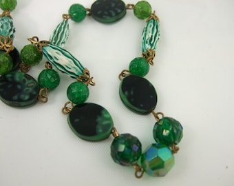 Vintage Glass and Lucite Bead String