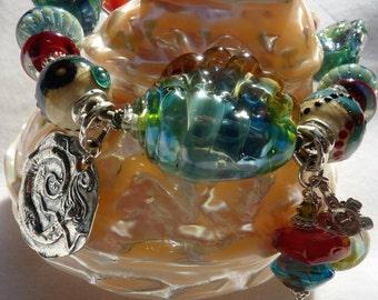 Lampwork Bracelet HIGH TIDE