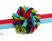 Korker Bow, M2M Rare Editions Flower Applique Pocket Dress, Korker Headband, Korker Hair Bow, Baby Hair Bow, Korker Bow, Toddler Hair Bow