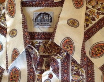 Vintage Miler Western Wear Denver Cowboy Shirt 15 1/2 - 33
