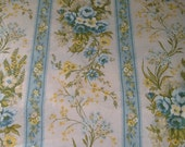 Vintage Sheet / King Sheet / Blue Floral Sheet, St. Mary's Sheets, 50% Cotton
