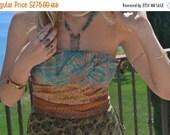 VALENTINES SALE OCTAVIA Gown /// Silk Flow Dress /// Vintage Saree Print  /// one of a kind /// Large