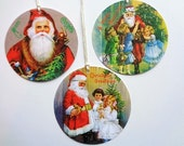 Christmas Gift Tags Vintage Santa Victorian Father Christmas Holiday Tag