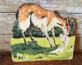 Vintage Goat Press Hardboard  1940s