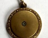 Antique Sacred Heart of Jesus Gold Filled Locket Patent April 9, 1917
