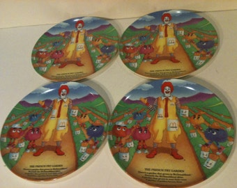 Vintage McDonalds 4 Piece Plate Set The French Fry Garden