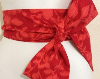 Kimono Obi Belt Sash One Size Red