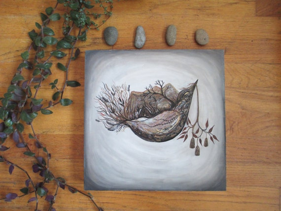 Original Painting-Starling Carries the Golden Light, Elise Mahan Fine Art