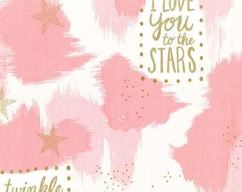 Pink You are Magic fabric- Magic collection by Sarah Jane for Michael Miller Fabrics -Metallic