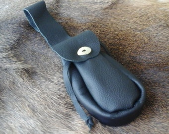Medieval Leather Drawstring Belt Pouch