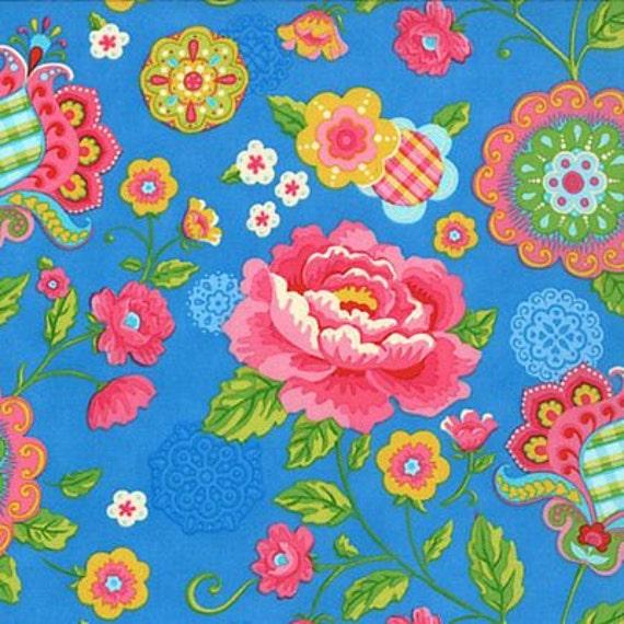 Gypsy Girl Lily Ashbury Gypsy Bloom blue moda fabrics Long Quarter Yard