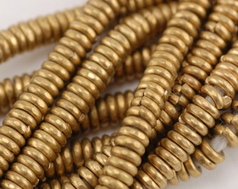 African Brass Heishi Spacer Beads