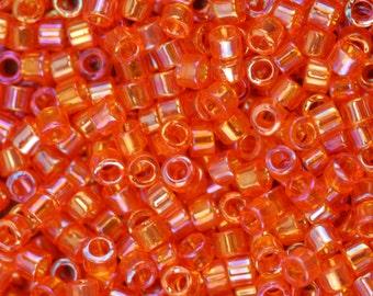SALE! Miyuki Delica Beads, 11/0, Transparent Tangerine A/B DB-151