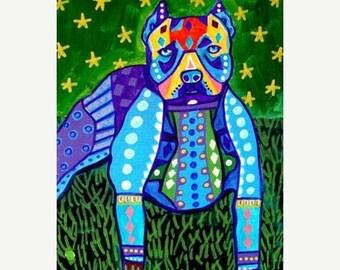 55% Off- PITBULL ART  - Pit bull art Art Print Poster by Heather Galler (HG767)