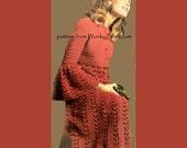 Vintage Red Gown Crochet Pattern PDF 772 from WonkyZebra