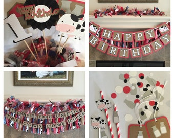 Western Birthday Party - Barnyard Party Decorations -