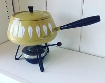Mid century Cathrineholm Lotus Fondue Pot
