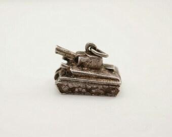 Vintage Sterling WWII Tank Charm