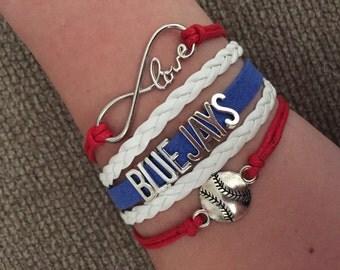 Bluejays Infinity Bracelet