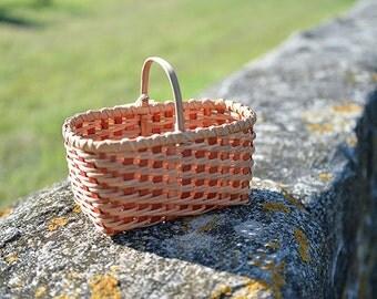 Tiny Spoon Shaker Style Basket Nina Webb Basket Handwoven Rattan