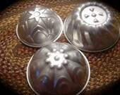 Set of 3 Aluminum Cake Jello or Dessert Molds