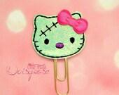 Zombie Kitty Glitter Planner Clip