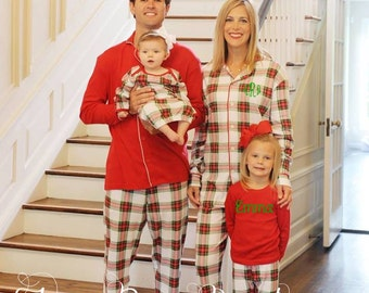Plaid Christmas Pajamas, Children's Holiday Pajamas, PJs, Baby Gown, Matching Doll Pajamas - PRE ORDER 3