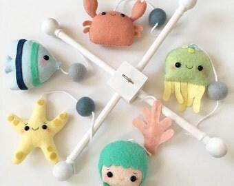 Ocean/Sea Baby Crib Mobile - Custom Color