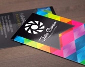 "1000 Business Cards or hang tags - 3.5""X2"" -14 PT glossy - custom printed UV coated"