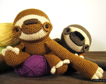 Doobie the Sloth PDF Crochet Pattern