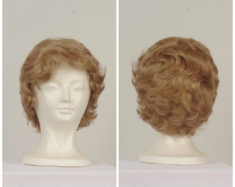 short blonde vintage ladies wig 20s Gatsby flapper finger waves wig with bangs synthetic wig costume cosplay fantasy