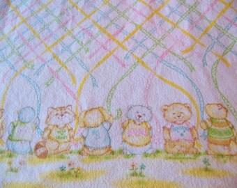 charming vintage flannel baby blanket