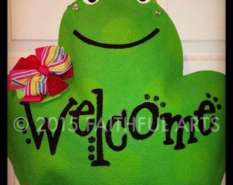 Burlap Frog Door Hanger