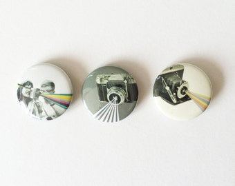 Set of Three 25mm Button Badges - Camera Club