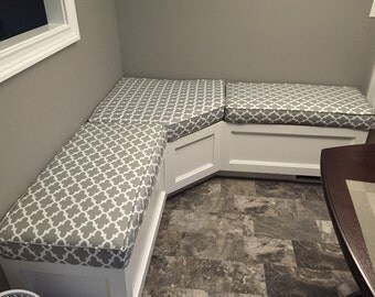 Breakfast Nook or Bench Cushions with Covers