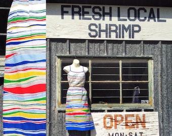 70s sundress / striped sundress / retro resort
