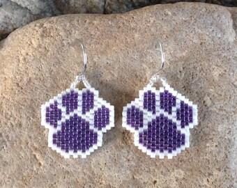Purple Peyote Beaded Paws
