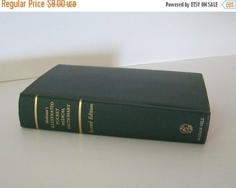 ON SALE Vintage Book Medical Dictionary Illustrated Blakiston's Second Edition 1960 Collectible