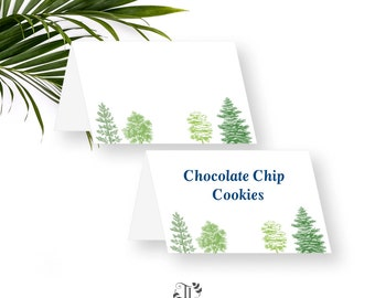 Adventure Food Tent Cards. Place cards. Tented menu cards. Buffet labels. DIY Printable Instant Download.