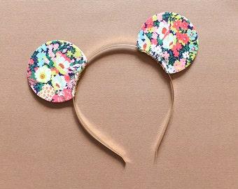 Mickey Ears Headband Mouse Disney Glitter Reversible, giddyupandgrow