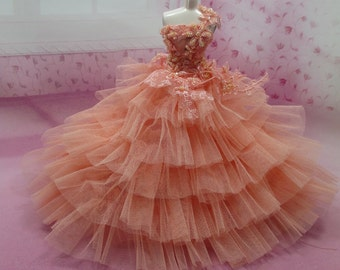 Blythe Outfit Clothing Cloth Fashion handcrafted beads tutu gown dress 956-5