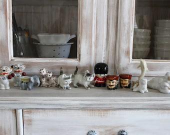 12 Figurines, ANTIQUE heads Bust,Salt Pepper, STEAM PUNK Accessories,Assemblage Vintage, Altered Art