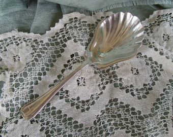 Gorham Shell Serving Spoon Silver Plate