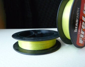 FireLine 6 lb Braided Beading Thread - Flame Green - Size D - 50 yd spool