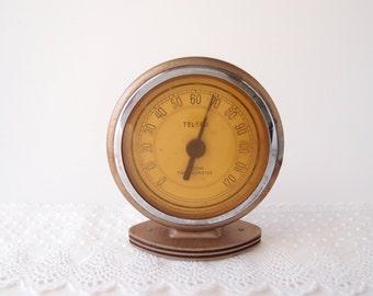 Art Deco 1920s Tel-Tru Room / Dashboard Thermometer