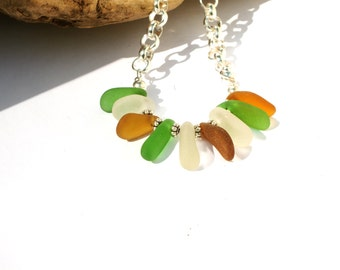 Sea  Glass Necklace - Fort Bragg Sea  Glass - Beach Necklace - FREE Shipping inside the United States