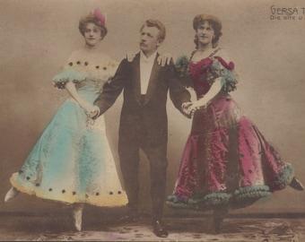 Vaudeville/Circus Acrobatic Trio 1 by Georg Gerlach of Berlin, circa 1906.