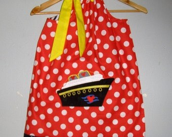 Disney Cruise Ship  dress pillowcase dress 3,6,9,12,18 months, 2t, 3t, 4t, 5t, 6,7,8,9,10,12