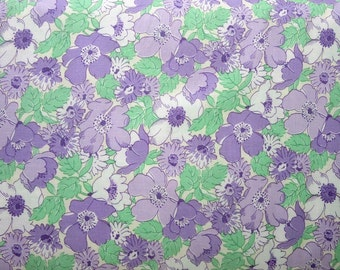 Walk in The Park 30s Purple Floral Maywood Quilt Fabric by the 1/2 yard