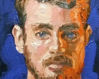 Different Shades of Orange, Red, and Ginger, oil on canvas panel 8x10 inches Kenney Mencher www.Kenney-Mencher.com